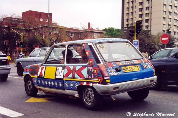 Ndebele painted car