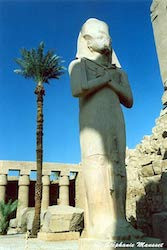 [Egypt temples photos - Statue of Ramesses II usurped by Pinedjem I]