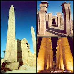 [Egypt temples photos - Karnak temple columns, Egypte]