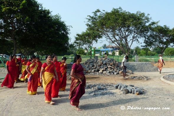 femmes en Sari traditionnel