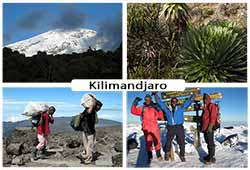 Photos de paysages du Kilimandjaro